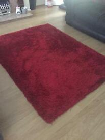 Red rug great condition B and Q collection only