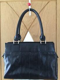 M&S Black Leather Bag - Excellent Condition