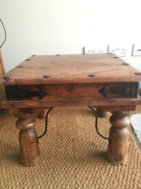 Traditional Indian Solid Wood Side/Coffee Table