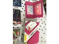Nintendo 3ds xl pink with 7 games