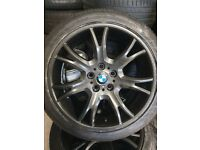19inch GENUINE REFURBISHED BMW ALLOY WHEELS with VERY GOOD TYRES SUIT X3