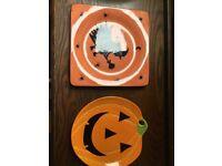 x2 Halloween ceramic dishes