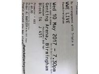 tickets to WWE live Birmingham may 10th