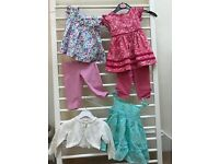 Monsoon baby dresses with leggings and a cardigan