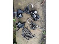 Shimano deore 9 speed mountain bike gear set up