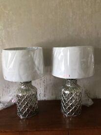 MERCURY GLASS TABLELAMPS