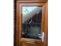 Pvc front door . Golden oak / white . for sale  Dundee