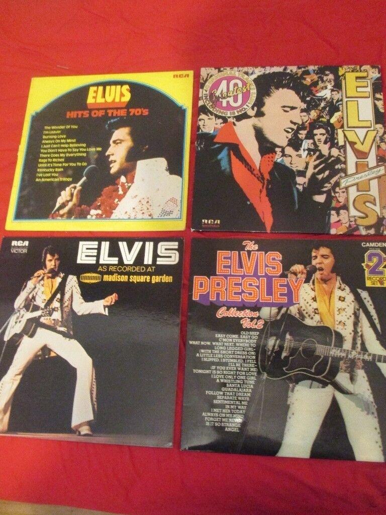 6 ELVIS VINYL LP RECORDS , ALL IN GREAT CONDITION