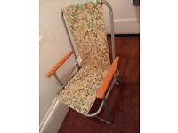 Foldaway garden chair