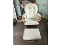 Kub Haywood Glider Chair and foot stool