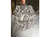 Crystal effect lightshade from next