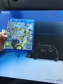 PlayStation 4 brand new in box 500gb not opened. Includes new FIFA 17 never opened. £250