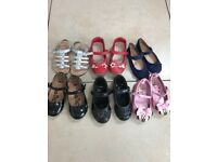 X6 pairs girls size 7 shoes