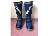 Leather Oxtar Motorcycle Boots Size 42 / 8 Enduro Motorcross Offroad