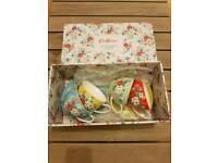 Kath kidston Clifton rose set of 4 tea cups and saucers