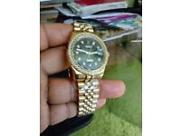 Rolex datejust with diamond bezel