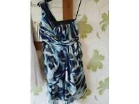 size 12 multicolour blue coast dress