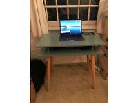 Habitat Contemporary Desk - sage grean/blue/oak