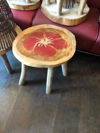 Tiki coffee tables side table solid wood