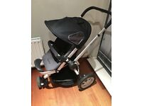 Quinny Buzz Black Stroller Pushchair & Raincover
