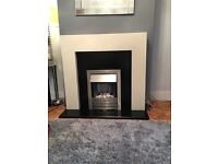 Focal point electric fire suite