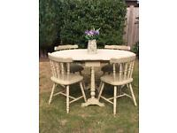 French Shabby Chic Table & 4 Chairs