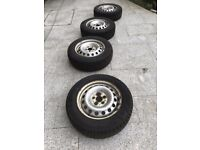 4 Used Winter Tyres and Steel Wheels