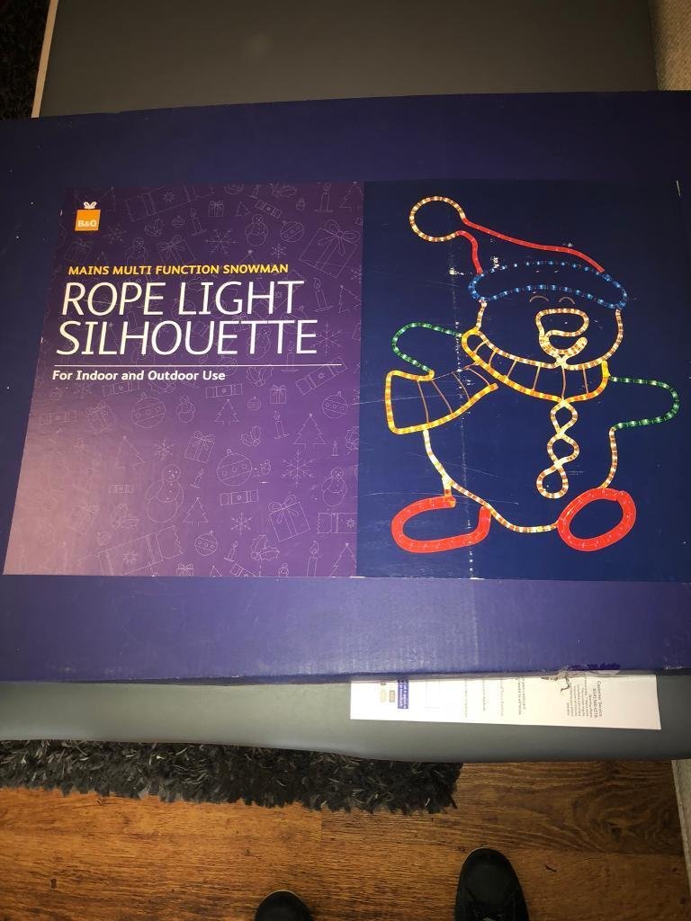 Christmas snowman rope light silhouette in tuffley christmas snowman rope light silhouette image 1 of 3 aloadofball Gallery