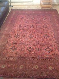 An amazing 100% Hand-made wool carpet