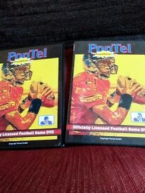 2 American Football College game dvds
