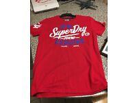 Men's Red Super Dry T-Shirt Large