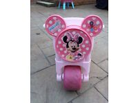 Minnie Mouse toddler push along motor bike