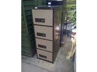 Chocolate and cream filing cabinet 4 drawer