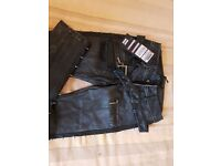 Punk Rave leather look jeans