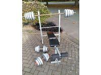 PRO POWER WEIGHTS BENCH & 50KG WEIGHTS