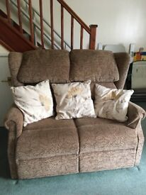 3 piece suite inc. 1 x reclining chair & 1 chair