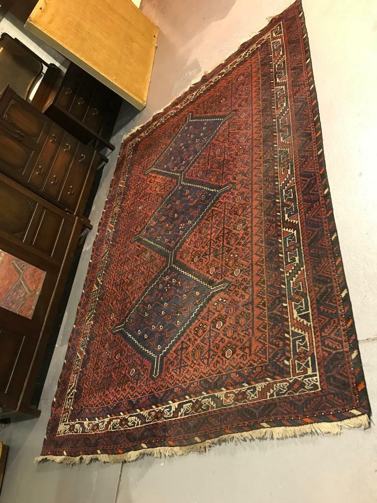 Large 223cm X 320cm Antique Handmade Woollen Persian Rug