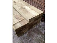 2.4mtr 200x100 s/wood sleepers green or brown