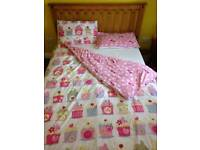 Next cupcake double duvet x2, 4 pillow covers and matching curtains