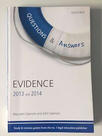 Questions & Answers Evidence 2013-2014 Law Revision and Study Guide 8/e