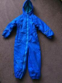 Kids Regatta waterproof outdoor all in one suit age 3-4