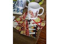Queens mugs and coasters