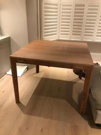 Walnut square dining table