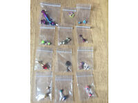 Brand New mix bag more than 12 pieces of costume fashion jewellery belly bars body piercing