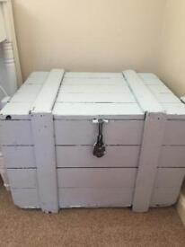Wooden storage trunk/ toy box?