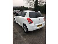 Suzuki swift 1.5-auto-pearl white-1 owner-09 reg-hpi clear-cheap insurance+px welcome