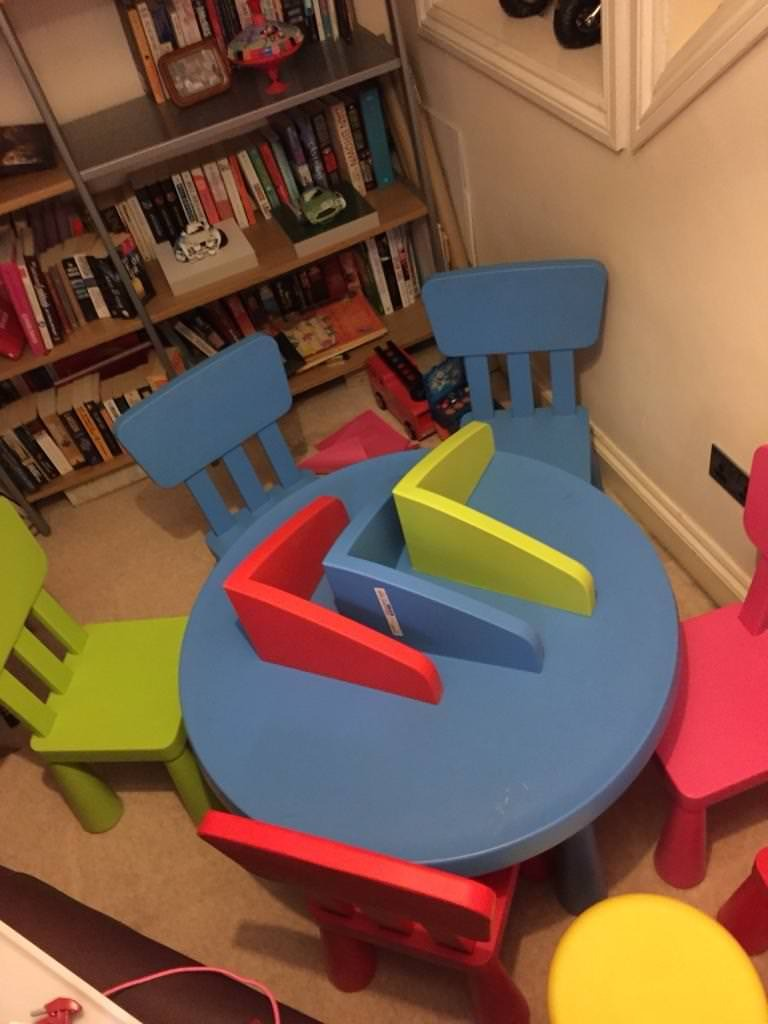 Kids Ikea Plastic Table And Chairs In Penylan Cardiff