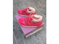 Pink ankle Clarks girls shoes, infant size 9.5F