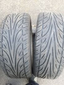235 50 18 partworn tyres with 5-6mm of tread