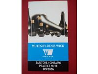 Denis Wick DW5536 practice mute for baritone, blue juice value oil